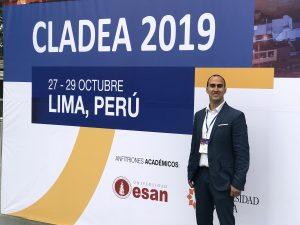 El profesor Juan David Peláez en el evento CLADEA 2019